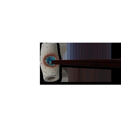 画像1: まくら白ミカゲ 青 箸置き (1)