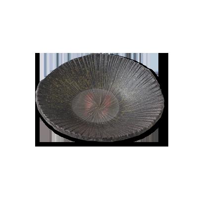 画像1: 炭化線紋皿 (1)