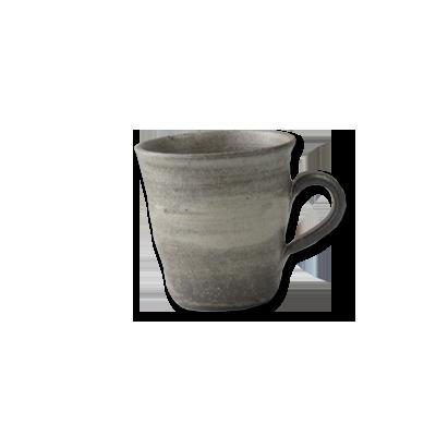 画像1: マグカップ細 灰刷毛 (1)