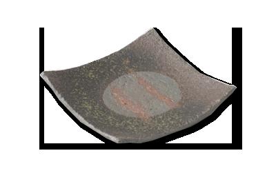 画像1: 炭化正角取皿 (1)