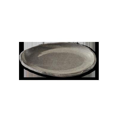 画像1: たまご皿 灰刷毛 (1)