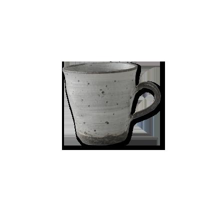 画像1: マグカップ細 鉄点802 (1)