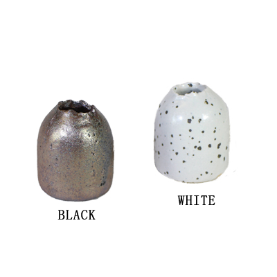 画像1: ミニ花器(白・黒) (1)