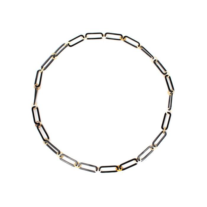 画像1: ネックレス  ロングオーバル  /  ダークナチュラル 90cm (1)